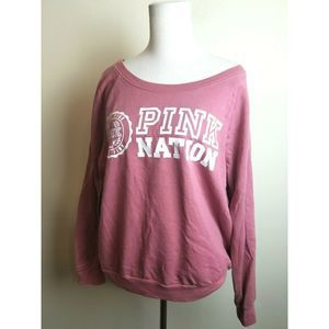 Pink Victoria's Secret Sweatshirt Large